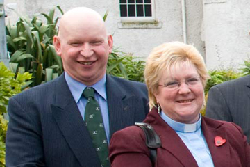 Rev Fiona Wilson and Richard Wilson